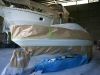 205 Bayliner masked ready for Blue area spraying