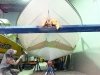 18 foot Stingray during hull epoxy coating
