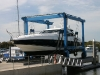 Sunseeker in Marine 70t lift for hard stand work